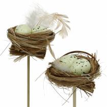 Deco plug Bird's nest 23cm 6pcs
