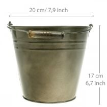 Metal pot, bucket for planting, planter Ø20cm H17cm