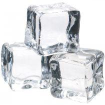 Decorative ice cubes, summer decorations, artificial ice 3cm 6pcs