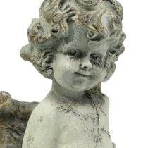 Deco angel cupid with heart 25cm 2pcs