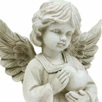 Decorative angel with heart H25cm