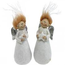 Decorative angel figure Christmas angel white 4.5 × 3.5 × 11cm 4pcs