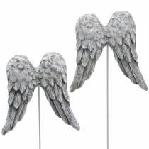 Decorative plug angel wings 10cm 3pcs