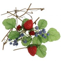 Handicraft set berries, decorative branches and leaves