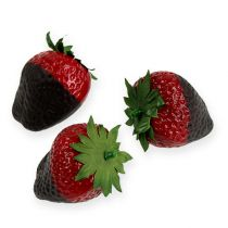 Decorative strawberries with chocolate 4,5cm 5pcs