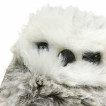 Owl plush 7cm gray white 2pcs