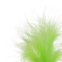 Feathers on sticks Light Green L30cm 12pcs