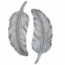 Grave jewelry feather 18cm x 6.5cm 4pcs