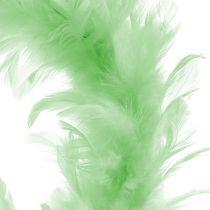 Feather Wreath Llight Green Ø15cm 4pcs