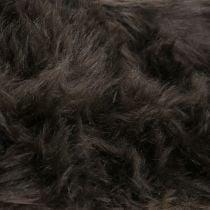 Decorative fur ribbon dark brown 16x200cm
