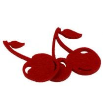 Felt cherries red 32pcs