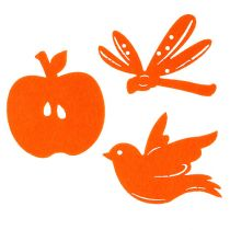 Felt Decoration to control Orange 24pcs