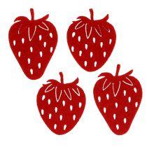 Felt strawberry red 32pcs