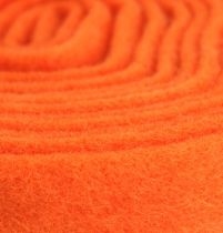 Felt tape orange 7,5cm 5m