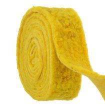 "Felt band ""Happy"" Yellow 7,5cm 5m"