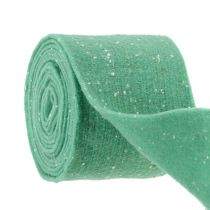 Felt tape Mint with dots 15cm 5m