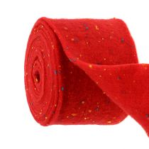 Felt tape red with dots 15cm 5m