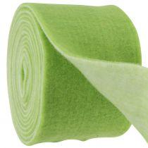 Felt tape 15cm x 5m two-tone green, white