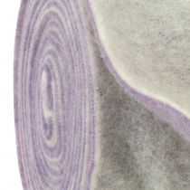 Felt Tape 15cm x 5m two-tone light purple, white