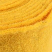 Felt ribbon 15cm x 5m yellow