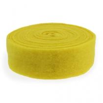 Felt tape yellow 7,5cm 5m