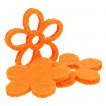 Felt flower 4cm orange 72pcs