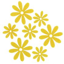 Felt flower set in yellow 96pcs