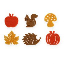 deco autumn felt 3cm 72pcs
