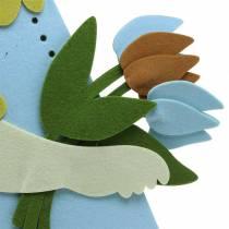 Large Easter bunny felt cream, light blue, 44cm H101cm window decoration