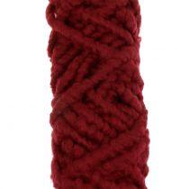 Felt cord fleece Mirabell 25m dark red