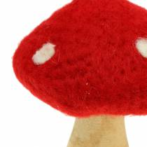 Fly Agaric Autumn Deco Red H13,5cm 2pcs