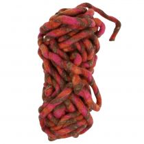 Felt Cord 25m Brown, Red, Pink