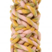 Felt Cord 25m Pink, Yellow, Green