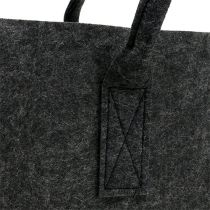 Felt bag anthracite 50cm x 25cm x 25cm