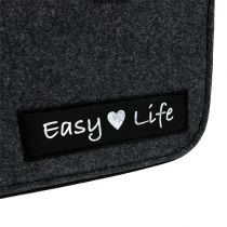 "Felt bag ""Easy Life"" 39cm x 22cm x 25,5cm Gray"