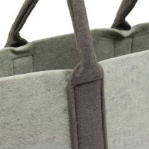 Felt bag gray/brown 54cm x 34cm x 15cm