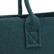 Felt bag blue gray 40cm x 20cm x 25cm