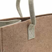Felt bag light brown 50 × 25 × 25cm