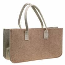 Felt bag light brown 50 × 25 × 25cm