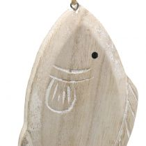 Deco hanger woodfish 21cm 2pcs