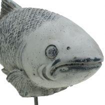 Garden figure fish on stand H20cm