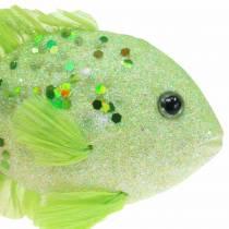 Decorative fish for hanging green pink orange blue 13-24cm 6pcs