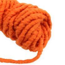 Felt cord Velcro Mirabell 25m Orange