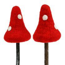 Toadstool plug made of felt Red 30cm 4pcs