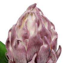 Foam artichoke light purple 14cm L28cm 1pc