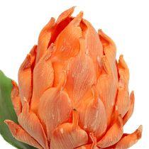 Foam Artichoke Orange 14cm L28cm 1pc