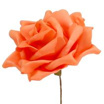 Foam Rose Orange Ø15cm 4pcs