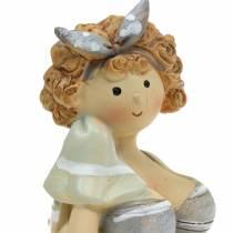 Decorative figure lady in a swimsuit gray 10cm 2pcs