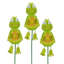 Frog girl with flower green 11,5cm 15pcs