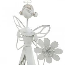 Spring decoration, flower fairy, metal lantern, blossom fairy with flower 34.5cm